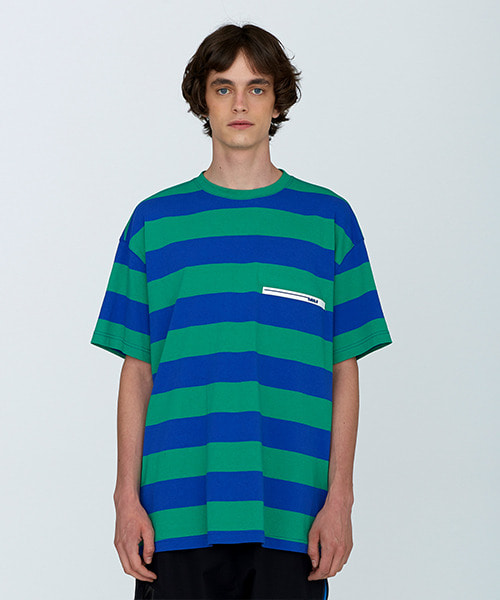 [18SS][70% 세일] Rubber Wappen Stripe T-Shirts(BL)