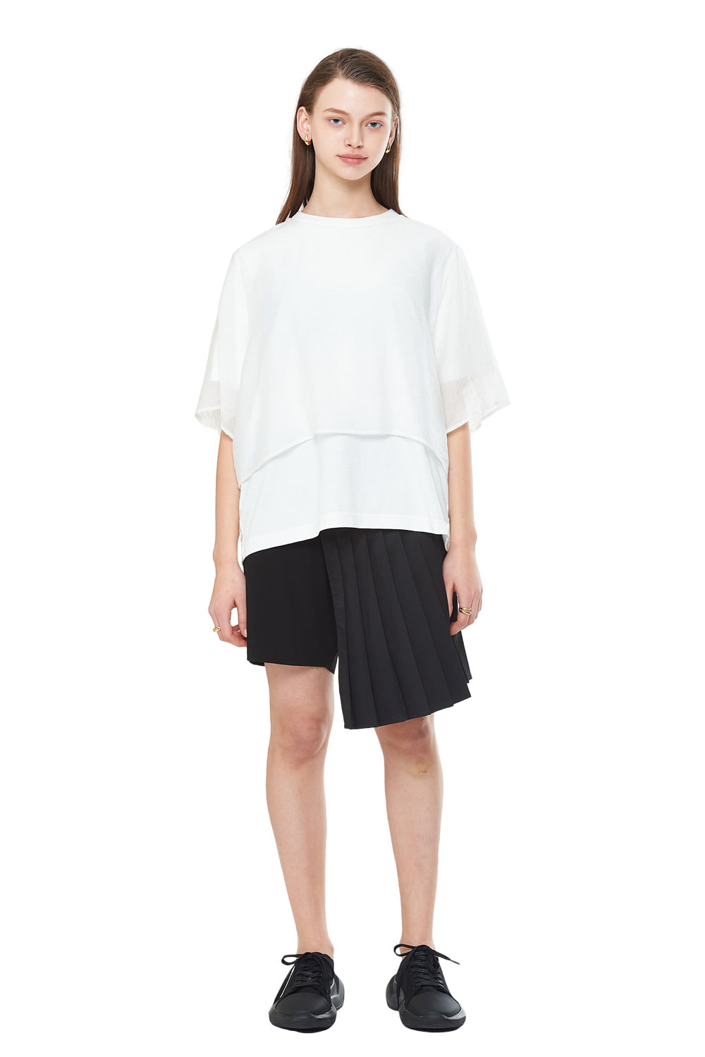 [20SS][50% SALE] Layered See-through T-Shirts (WH)_ W01TS0202