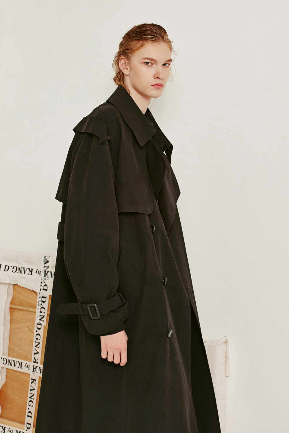 [19FW][60% 세일] Oversize Trench Coat (BK)