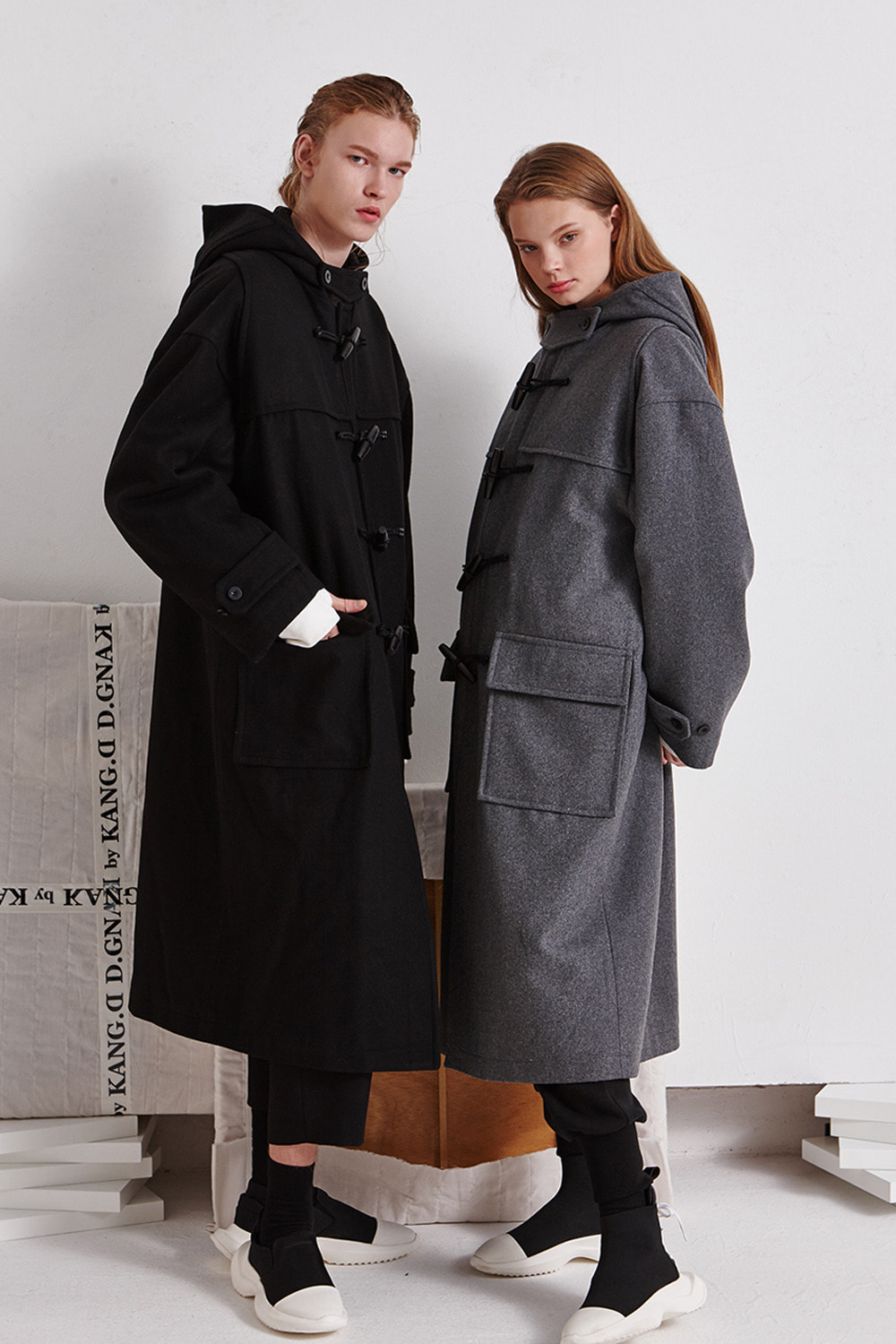 [19FW][60% 세일] Drop Shoulder Duffle Coat (BK)