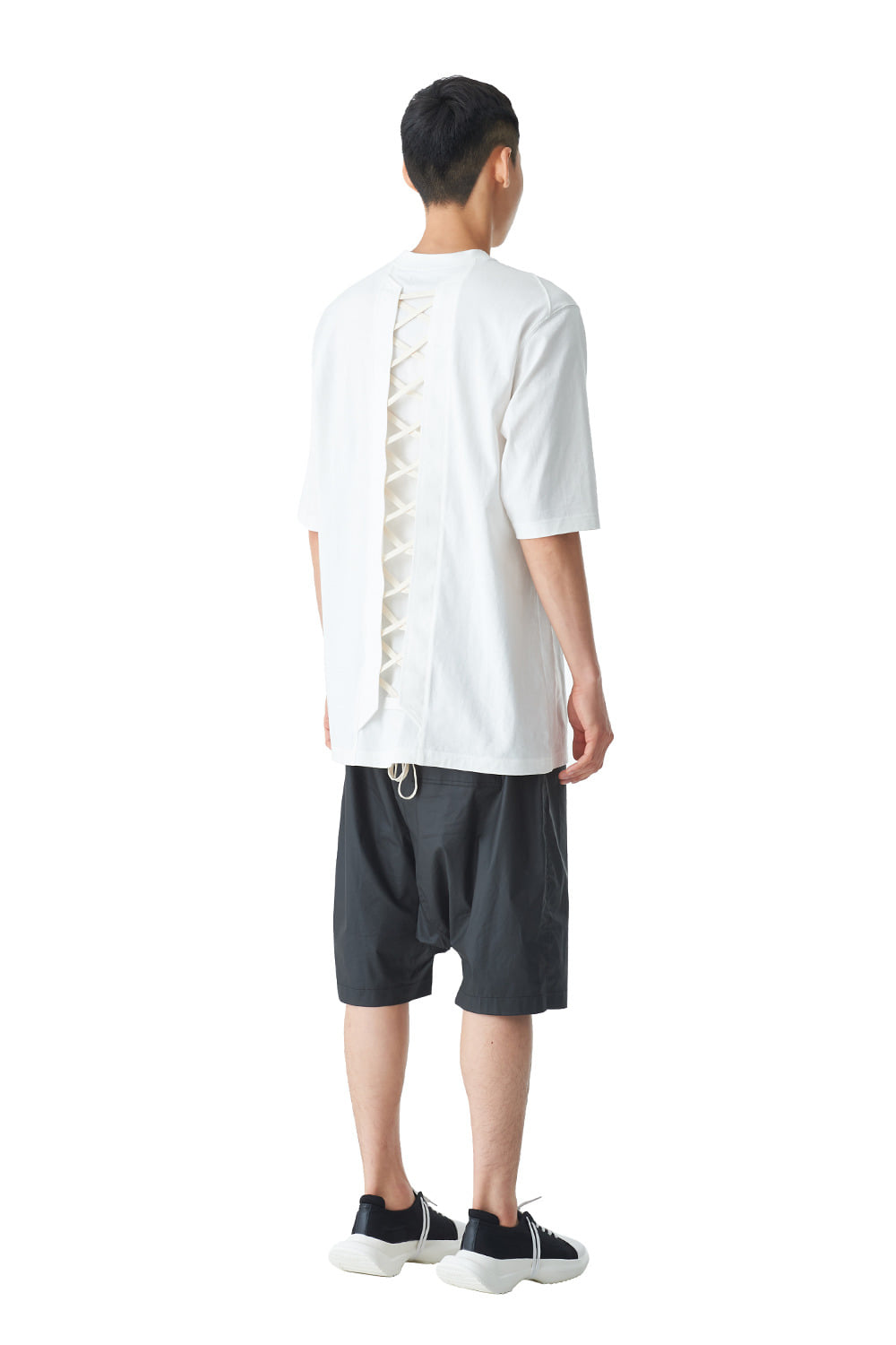 [20SS][15% SALE] Back Lace-up T-Shirts 2020ver (WH)_ PA1TS4242
